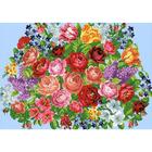 Рисунок на канве Гелиос Ц-010 «Цветочное панно» 27*35 см