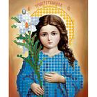 Рисунок на полотне 6*7 см М-022 «Трилетствующая Богородица»