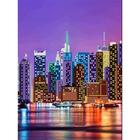 Рисунок на полотне А3 E-3005 «Ночной Нью-Йорк 2» 29*39 см