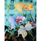 Рисунок на полотне А3 E-3017 «Золотые рыбки 1» 29*39 см