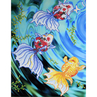 Рисунок на полотне А3 E-3018 «Золотые рыбки 2» 29*39 см