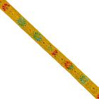 Тесьма 10 мм жаккард с люрексом желт.