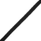 Шнур плоский арт.216 шир.10 мм (уп 100 м) чёрный