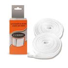 Шнурки с пропиткой Corbby 100 см плоские 5308C белый