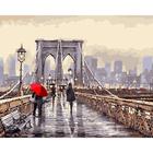 Набор для раскрашивания Русская живопись D006  «Мост во время дождя»