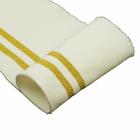 Подвяз трикотажный п/э с золотыми полосами TBY.MP01 13* 100 см молочный