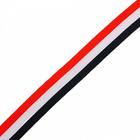 Тесьма рубчик 25 мм неэластичная  Лампас NET0425  уп.45,7 м син/бел/красн