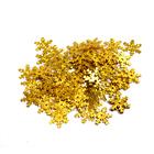 Пайетки «фигурки» Астра снежинки 13 мм (уп. 10 г) A20 золото