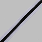 Тесьма рубчик 25 мм неэластичная  Лампас   уп.25 м белый/чёрный