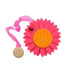 Клипса-магнит для штор с лентой 0368 фетр 549 розовый