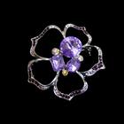 Брошь BR 924 «Цветок с сиреневым камнем»
