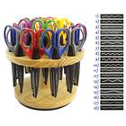 Ножницы HKM 15550 фигурные для хобби с цветной ручкой