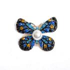 Брошь BR 934 «Бабочка» синий