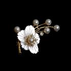 Брошь BR 936 «Цветок с бусинами»
