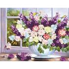 Алмазная мозаика Milato S-513  «Цветы на окне» 35*60 см