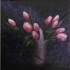 Алмазная мозаика детская DIY (с рамкой) K20119 «Розовые тюльпаны»