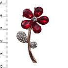 Брошь BR 818 «Рубиновый цветок»