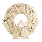 Заготовка для декора BD-105 «Пасхальное пано Кролики» дерев. 18*18 см
