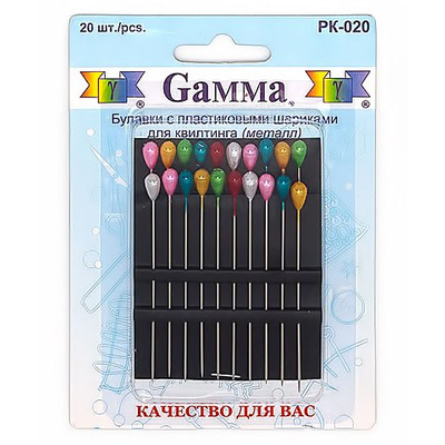 Булавки для квилтинга Gamma РК-020 (уп. 20 шт.) в интернет-магазине Швейпрофи.рф