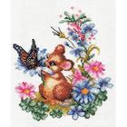 Набор для вышивания Panna Д-0274 «Любопытный мышонок» 20*23 см