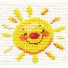 Набор для вышивания Алиса 0-024 «Солнышко» 7*7 см