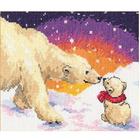 Набор для вышивания Алиса 0-026 «Белые медведи» 20*16 см