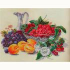 Набор для вышивания Алиса 5-10 «Абрикосы и малина» 37*27 см