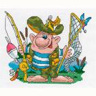 Набор для вышивания Кларт 8-162 «Рыбак в полном снаряжении»