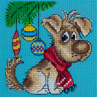 Набор для вышивания Кларт 8-245 «В ожидании подарков» 13*13 см