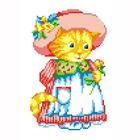 Набор для вышивания М.П.Студия КH-404 «Кошка в шляпе» 14*20 см