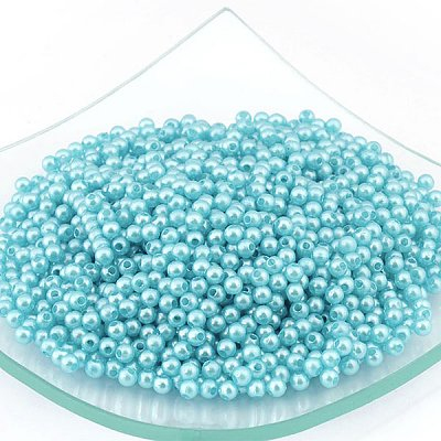 Бусины пластм.  4 мм (уп. 10 г) 004 св.-бирюзовый в интернет-магазине Швейпрофи.рф