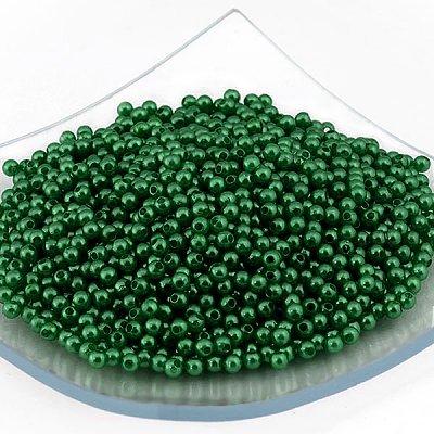 Бусины пластм.  4 мм (уп. 10 г) 059 зеленый в интернет-магазине Швейпрофи.рф