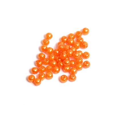 Бусины пластм.  4 мм (уп. 10 г) 133 оранжевый в интернет-магазине Швейпрофи.рф