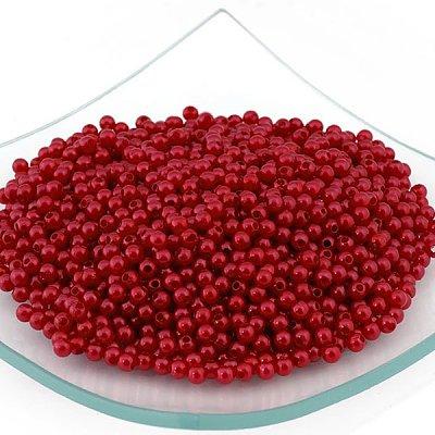 Бусины пластм.  4 мм (уп. 10 г) 136  H61 красный в интернет-магазине Швейпрофи.рф