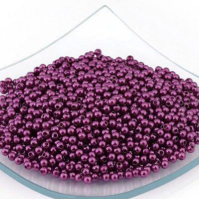 Бусины пластм.  4 мм (уп. 10 г) 207 фиолетовый в интернет-магазине Швейпрофи.рф