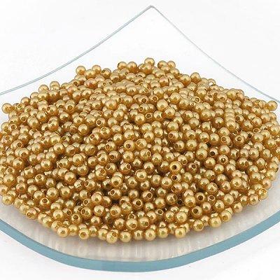 Бусины пластм.  4 мм (уп. 10 г) H63 жёлтый в интернет-магазине Швейпрофи.рф
