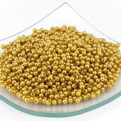 Бусины пластм.  4 мм (уп. 10 г) золото в интернет-магазине Швейпрофи.рф