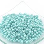 Бусины пластм.  5-6 мм (уп. 10 г) 004 св.-бирюзовый