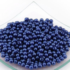 Бусины пластм.  5-6 мм (уп. 10 г) 005 синий
