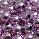 Бусины пластм.  5-6 мм (уп. 10 г) 035 розовый металлизированный