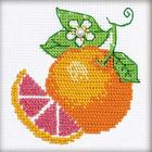 Набор для вышивания Риолис №1263 «Апельсин» 10*10 см