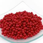 Бусины пластм.  5-6 мм (уп. 10 г) 136 красный