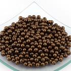 Бусины пластм.  5-6 мм (уп. 10 г) 158 коричневый