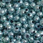 Бусины пластм.  8 мм (уп. 10 г) 029 бирюзовый металлизированный