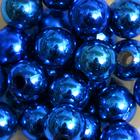 Бусины пластм.  8 мм (уп. 10 г) 040 синий металлизированный
