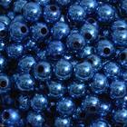 Бусины пластм.  8 мм (уп. 10 г) А33 синий