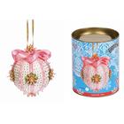 Набор для творчества Новогодний шар из пайеток ВМ.ШП06 «Нежность» розовый
