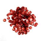 Пайетки Астра круглые 6 мм (уп. 10 г) граненые 1503 красный матовый