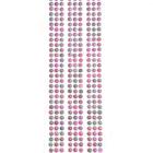 Стразы клеевые на листе 4 мм грани звездочки (уп. 432 шт.) розовый