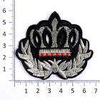 Термоаппликация R2595 «Корона» черн/серебро (3)